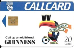CARTE-PUCE-IRELANDE-20U-GEMB-CUP FOOT USA 1994-MATCH De L IRLANDE-TBE - Ierland