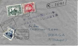 Nava Del Rey (Valladolid) A Portugal 1937 Certificado,al Dorso Llegada.censura. Heller N 7.1 Guerre D'Espagne Ver 2 Scan - Nationalistische Zensur