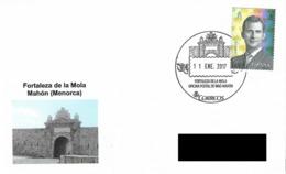 SPAIN. POSTMARK MOLA CASTLE. MAHON (MENORCA) 2016 - España