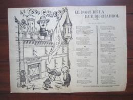Partition Musicale Le Fort De La Rue De Chabrol -imprimeur Leon Hayard - Partitions Musicales Anciennes