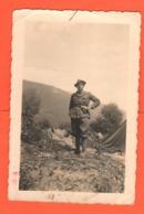 ALPINI Alpino Al Campo Foto Di Posa Anni '40 - War, Military