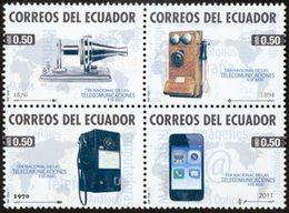 EQUATEUR Télécom 2011 4v Telephones Neuf ** MNH - Equateur