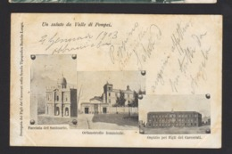17326 Pompei - Facciata Del Santuario - Orfanotrofio Femminile - Ospizio Per I Figli Dei Carcerati F - Pompei