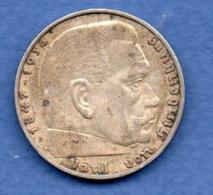 Allemagne  -  2 Reichsmark  -  1937 E  - état  TTB - 2 Reichsmark