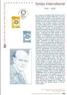 DOCUMENT FDC 2005 CENTENAIRE DU ROTARY INTERNATIONAL - Documenti Della Posta