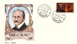 Fdc Roma: BOITO 1968; Viaggiata; AF_Padova - 6. 1946-.. República