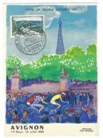France, Carte Maximum, Thématique Tour De France 1955 - Cyclisme - Avignon 11e étape Le 18 Juillet 1955 - Radsport
