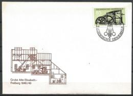 "East Germany DDR 1985 FDC Mining Balance Steam Engine Mine Grube ""Alte Elisabeth"" Freiberg 1848 - Factories & Industries"