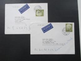 BRD Heuss I Nr. 194 EF 2x Luftpost Auslandsbriefe Nach Venezuela U. USA S/S Rio Orinoco Stp. Hamburg Flughafen - BRD