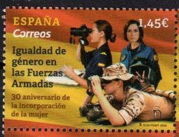 SPAIN, 2018, MNH,MILITARY, GENDER EQUALITY IN THE ARMED FORCES, 30th ANNIVERSARY OF WOMEN'S INCORPORATION IN MILITARY,1v - Militaria