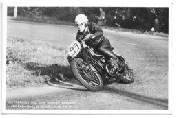 Carte-photo...motorraces 1950..onze Nationale Kampioen..Piet Knijnenburg Sur 500 Cc B.M.W. - Motociclismo