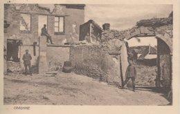 CPA ALLEMANDE - GUERRE 14-18 - CRAONNE (AISNE) - SOLDATS PRÈS DE MAISON EN  RUINE - Guerre 1914-18