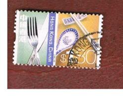 HONG KONG - SG 1124  -  2002  DEFINITIVES: CUTLERY & CHOPSTICKS   - USED ° - 1997-... Région Administrative Chinoise