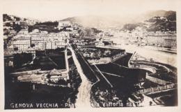 CARTOLINA - POSTCARD - GENOVA - VECCHIA - PIAZZA DELLA VITTORIA DE 1880 - Genova (Genoa)