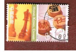 HONG KONG - SG 1132  -  2002  DEFINITIVES: CHESS & XIANGGI PIECES  - USED ° - 1997-... Speciale Bestuurlijke Regio Van China