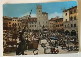 AREZZO - PIAZZA VASARI - FIERA ANTIQUARIA -VIAGGIATA FG - Arezzo