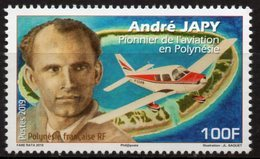 Polynésie Française 2019 - Avion, André Japy, Pionnier De L'aviation - 1 Val Neuf // Mnh - Polinesia Francese