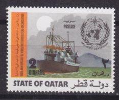 Qatar 1973 Mi. 561     2 D Internationale Meteorologische Zusammenarbeit (IMO-WMO) Wetterschiff MNH** - Qatar