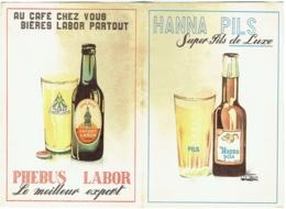Publicité Bière. Hanna Pils/Phebus Labor/Porter Ale/Triple Blonde Labor. Illustrateur : Wauthion 1956 - Publicités