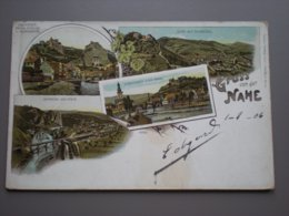 OBERSTEIN - MUNSTER - GRUSS VON DER NAHE - LITHO 1906 - Alemania