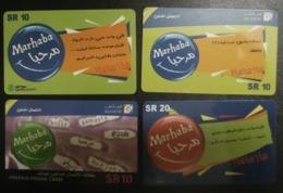 Saudi Arabia Telephone Card 4 Different - Saoedi-Arabië
