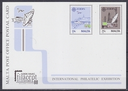 Europa Cept 1988 Malta Filacept Postal Stationery Unused (44825 ) - Europa-CEPT