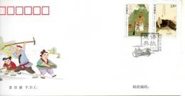 CHINE. N°4718-21 De 2010 Sur 2 Enveloppes 1er Jour. Proverbes. - 1949 - ... République Populaire