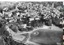 FIGEAC Vue  Aérienne Vue Coté Sud. Au 1er Plan, Le Stade. Cim , Cpsm GF, Envoi 1955 - Figeac