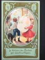 Au Bon Marché – Chromo – Le Retour Des Cloches/Les Oeufs De Pâques – B. Sirven IMP. –  SIR -13/4 - Au Bon Marché