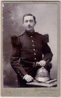 Cdv - Pompier De Paris 1900 Photo P. Martignon - Uniformes