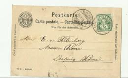 CH GS 1902 BASEL - 1882-1906 Stemmi, Helvetia Verticalmente & UPU