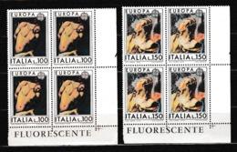 1975 Italia Italy Repubblica EUROPA CEPT EUROPE 4 Serie Di 2v. In Quartina MNH** Bl.4 - Europa-CEPT