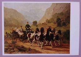 WIEN, KUNSTHISTORICSCHES MUSEUM - WAGENBURG IN SCHONBRUNN - Osterreichischer Maler Um 1855 CARROSSE - Taxi & Carrozzelle