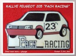 SUPER PIN'S RALLYE PEUGEOT : PACH RACING N° 23 En émail Base Noire + Glaçage, Format 2,2X1,3cm - Peugeot