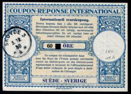 SUÉDE  International Reply Coupon / Coupon Réponse International - Enteros Postales