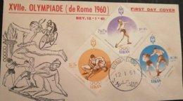 Lebanon Liban -FDC Olymdiade Rome 1960 - Libano