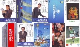 10 Télécartes - Prepaid Différentes  JAPON * COCA COLA (LOT A-1) JAPAN  10 DIFFERENT PHONECARDS * 10 VERSCHIEDENE TK - Alimentazioni