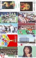 10 Télécartes - Prepaid Différentes  JAPON * COCA COLA (LOT A-2) JAPAN * 10 DIFFERENT PHONECARDS * 10 VERSCHIEDENE TK - Alimentazioni