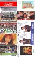 10 Télécartes - Prepaid Différentes  JAPON * COCA COLA (LOT A-4) JAPAN 10 DIFFERENT PHONECARDS * 10 VERSCHIEDENE TK - Alimentazioni