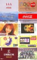 10 Télécartes - Prepaid Différentes  JAPON * COCA COLA (LOT A-9) JAPAN 10 DIFFERENT PHONECARDS * 10 VERSCHIEDENE TK - Alimentazioni