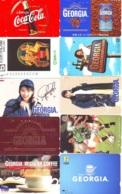 10 Télécartes - Prepaid Différentes  JAPON * COCA COLA (LOT A-10) JAPAN 10 DIFFERENT PHONECARDS * 10 VERSCHIEDENE TK - Alimentazioni