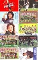 10 Télécartes - Prepaid Différentes  JAPON * COCA COLA (LOT A-12) JAPAN 10 DIFFERENT PHONECARDS * 10 VERSCHIEDENE TK - Alimentación