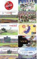 10 Télécartes - Prepaid Différentes  JAPON * COCA COLA (LOT A-13) JAPAN 10 DIFFERENT PHONECARDS * 10 VERSCHIEDENE TK - Lebensmittel