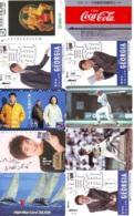 10 Télécartes - Prepaid Différentes  JAPON * COCA COLA (LOT A-14) JAPAN 10 DIFFERENT PHONECARDS * 10 VERSCHIEDENE TK - Lebensmittel