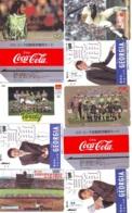 10 Télécartes - Prepaid Différentes  JAPON * COCA COLA (LOT A-15) JAPAN 10 DIFFERENT PHONECARDS * 10 VERSCHIEDENE TK - Food