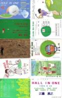 10 Télécartes - Prepaid Différentes  JAPON * SPORT * GOLF (LOT A-21) JAPAN 10 DIFFERENT PHONECARDS * 10 VERSCHIEDENE TK - Sport