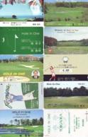 10 Télécartes - Prepaid Différentes  JAPON * SPORT * GOLF (LOT A-26) JAPAN 10 DIFFERENT PHONECARDS * 10 VERSCHIEDENE TK - Sport