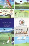 10 Télécartes - Prepaid Différentes  JAPON * SPORT * GOLF (LOT A-27) JAPAN 10 DIFFERENT PHONECARDS * 10 VERSCHIEDENE TK - Sport