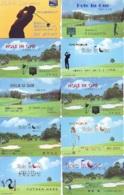 10 Télécartes - Prepaid Différentes  JAPON * SPORT * GOLF (LOT A-28) JAPAN 10 DIFFERENT PHONECARDS * 10 VERSCHIEDENE TK - Sport