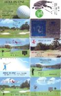 10 Télécartes - Prepaid Différentes  JAPON * SPORT * GOLF (LOT A-29) JAPAN 10 DIFFERENT PHONECARDS * 10 VERSCHIEDENE TK - Sport